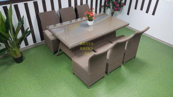 Фото-Мебель из искусственного ротанга Rose Royal beige
