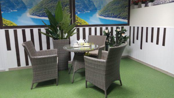 Фото-Плетеная мебель Nina Cafe set цвет натуральный