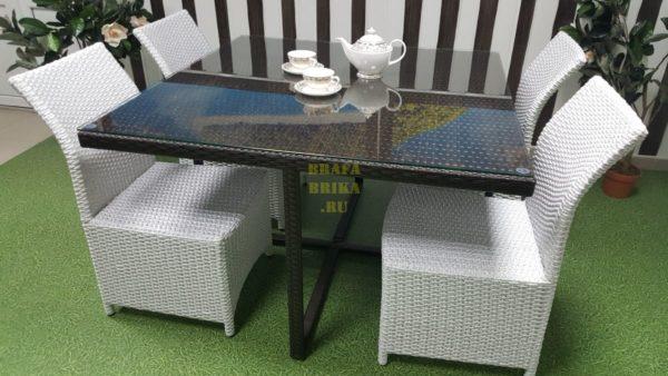 Фото-Ротанг искусственный мебель Boston black & white