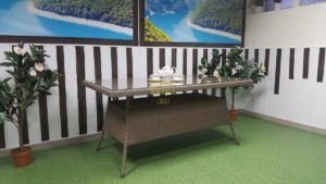 Фото-Стол плетеный Samurai обеденный 160
