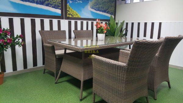 Фото-Комплект мебели из ротанга Samurai 160 beige 4