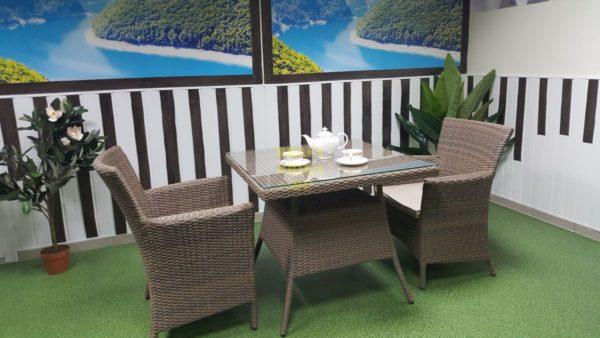 Фото-Комплект мебели из ротанга Samurai beige 2