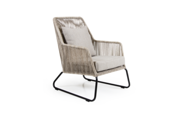 Фото-Кресло плетеное Midway beige лаунж Brafab