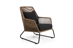 Фото-Кресло плетеное Midway brown лаунж Brafab