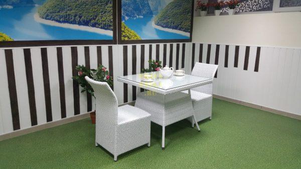 Фото-Мебель из искусственного ротанга Rose 2 white