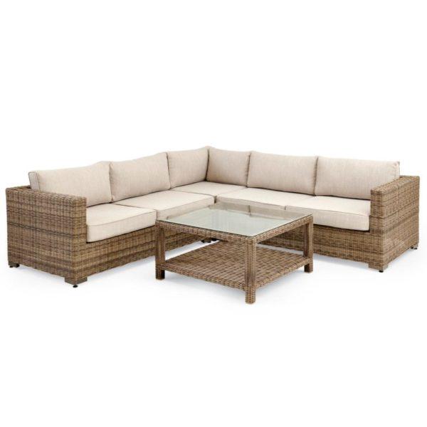 Фото-Плетеная мебель Ninja brown Lounge Brafab