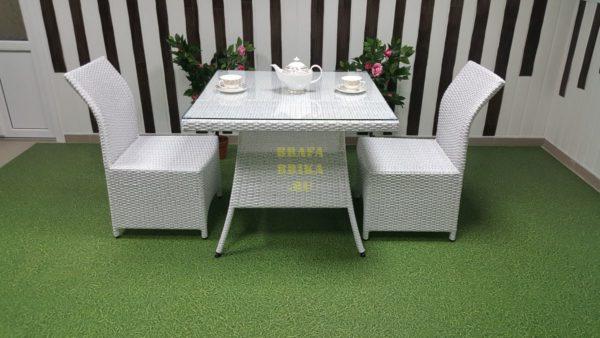 Фото-Плетеная мебель Rose 2 white