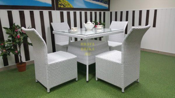 Фото-Плетеная мебель Rose 4 white