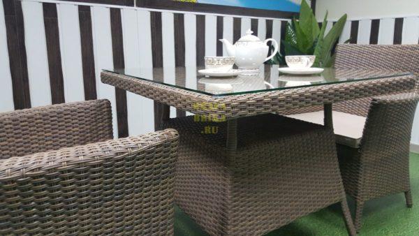 Фото-Плетеная мебель обеденная Samurai цвет royal beige Sunlinedesign