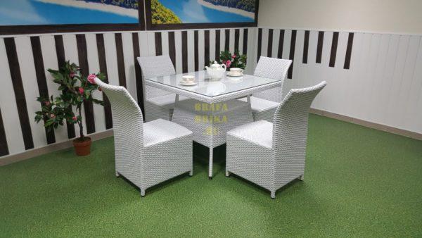 Фото-Ротанг мебель Rose 4 white