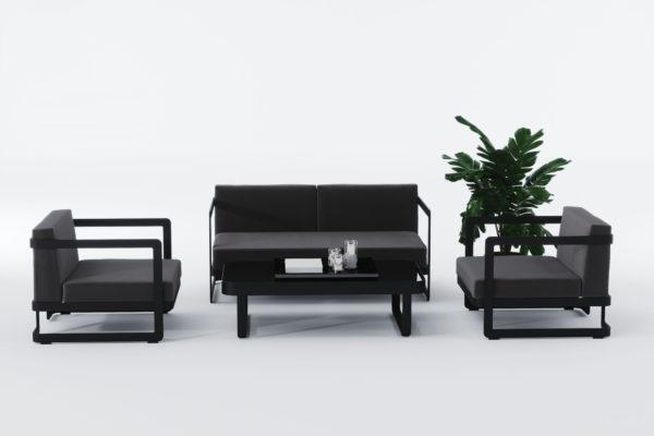 Садовая мебель из алюминия VILLINO black фото 3