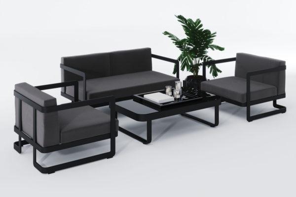 Садовая мебель из алюминия VILLINO black фото 5
