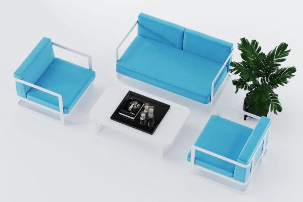 Садовая мебель из алюминия VILLINO white & blue фото
