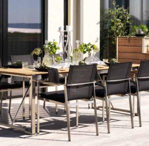 Фото-Садовая мебель из тика Gotland Brafab