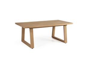 Фото-Садовый стол из тика кофейный Laurion Brafab