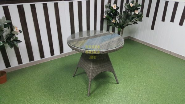 Фото-Стол плетеный Samurai D80 natur Brafabrika