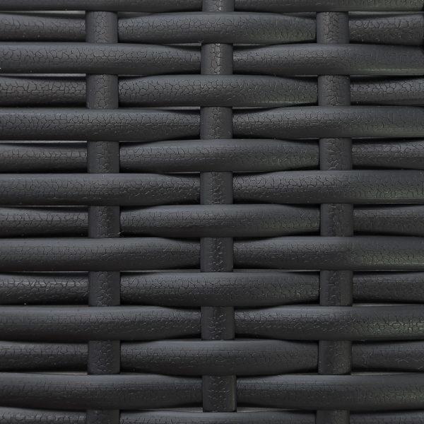 Фото-Искусственный ротанг Flat Leather Black