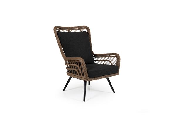 Фото-Кресло из искусственного ротанга Sunside brown Brafab