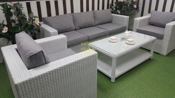 Фото-Мебель из искусственного ротанга Louisiana white & grey