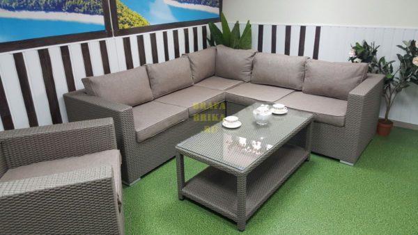Фото-Плетеная мебель Louisiana corner mocco set 2