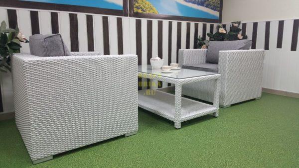 Фото-Ротанг искусственный мебель Louisiana cafe set white & grey
