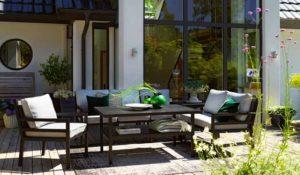 Фото-Садовая мебель из алюминия Bergerac black Brafab