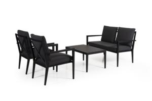 Фото-Комплект садовой мебели Sorba black Brafab