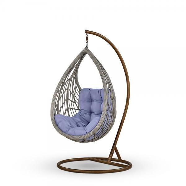"Фото-Подвесное кресло ""Angelica"" grey"