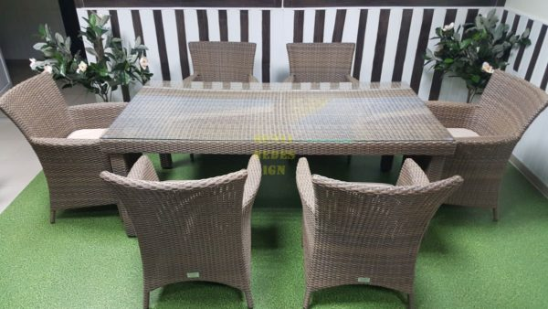 Фото=-Обеденная мебель из ротанга Infinity & Nina 6