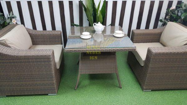 Фото-Плетеная мебель Glendon 2 обеденная группа