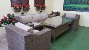 "Фото-Плетеная мебель ""Glendon"" dining beige"