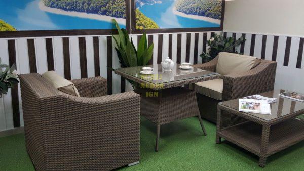 Фото-Плетеная мебель Glendon dining