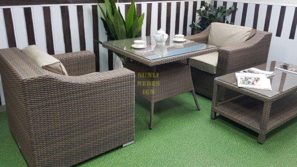 Фото-Плетеная мебель Glendon dining & cofe set