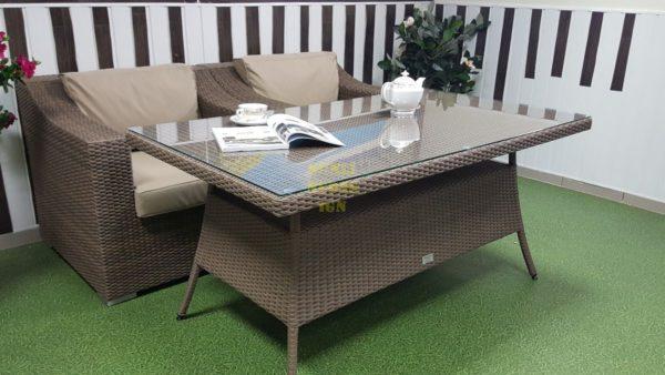 Фото-Плетеная мебель Glendon dining set 4