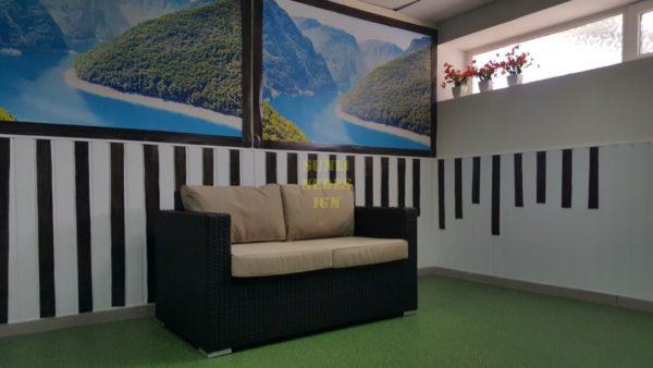 Фото-Плетеный диван Acoustic brown 2-х местный