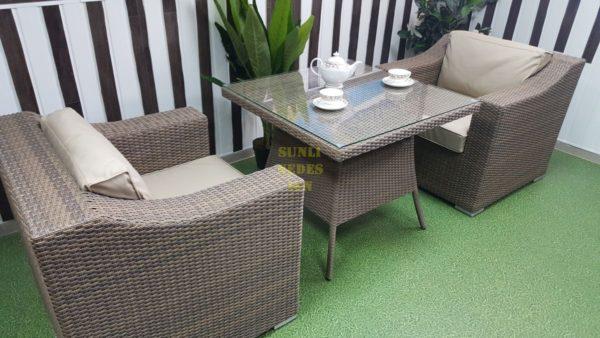 Фото-Садовая мебель из ротанга Glendon dining