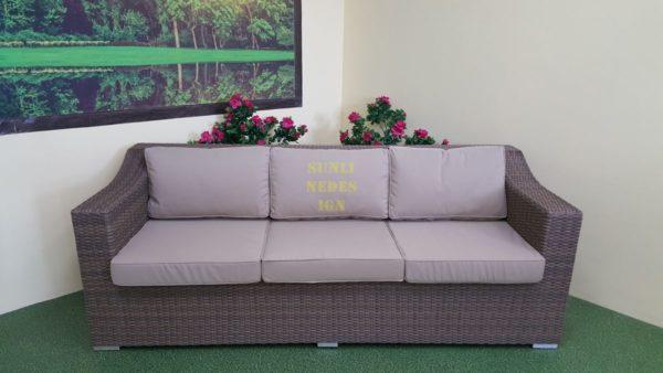 Фото-Садовый диван из ротанга Glendon beige