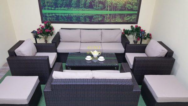Фото-Комплект плетеной мебели Acoustic maxi brown