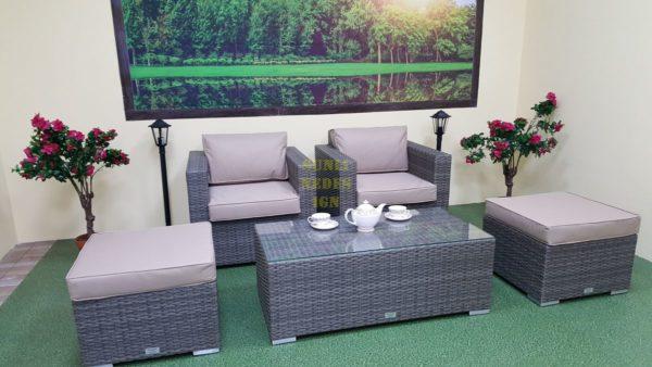 Фото-Мебель из искусственного ротанга Allegro natur&beige balcony set