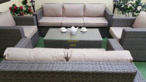 Фото-Allegro natur&beige set 1 Лаунж мебель из искусственного ротанга