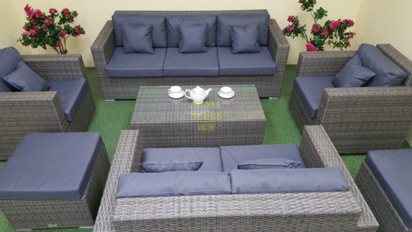 Фото-Комплект плетеной мебели Allegro natur&grey