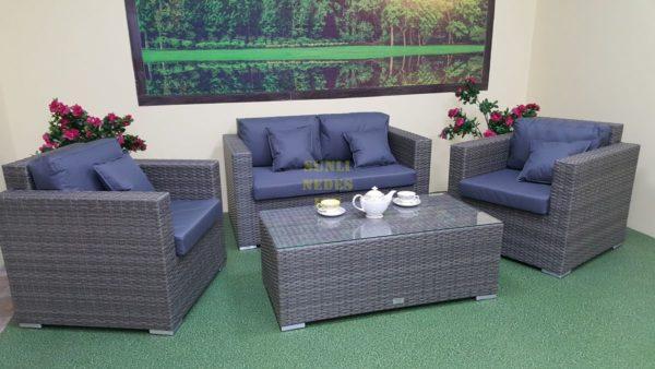Фото-Мебель из искусственного ротанга Allegro natur&grey set 3