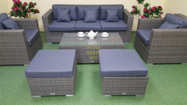 Фото-Мебель из ротанга Allegro natur&grey set 1