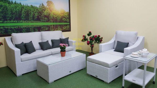 Фото-Pegas Lounge set white мебель из ротанга