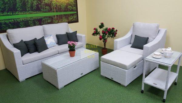 Фото-Pegas Lounge set white садовая мебель