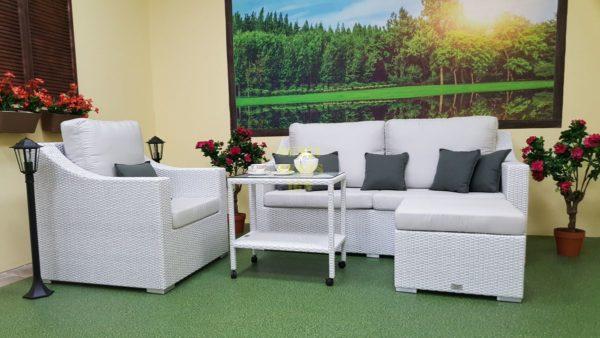 Фото-Плетеная мебель из искусственного ротанга Pegas White