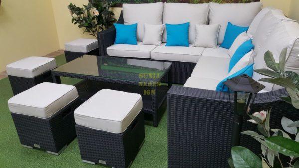 Фото-Pegas grey Ротанг мебель плетеная