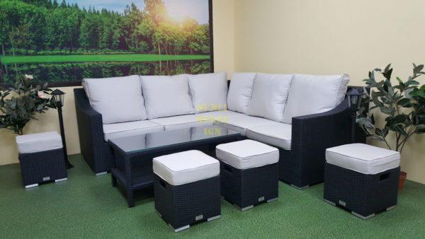 Фото-Комплект садовой мебели Pegas grey производство плетеной мебели