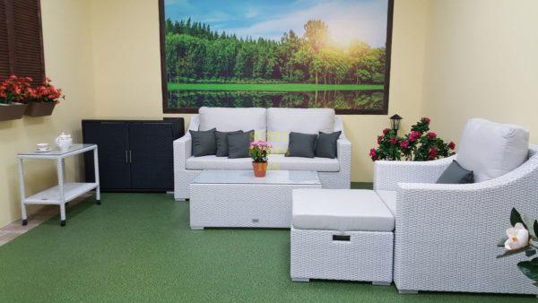 Фото-Pegas relax плетеная мебель белая
