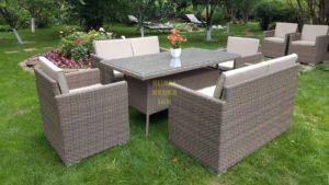 Фото-Плетеная мебель Infinity & Samurai dining patio set